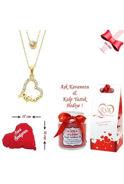 Forentina Aşkım Kalp Kolye Ve Aşk Kavanozu Fr0269