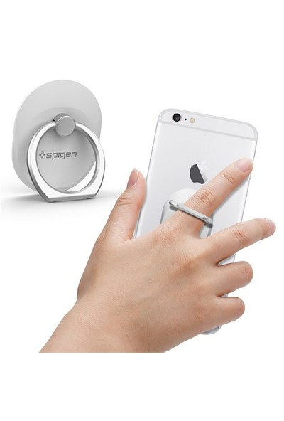 Spigen Style Ring Selfie Yüzüğü / Araç Tutacağı / Stand White - SGP11760