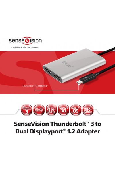 Club 3D Thunderbolt 3 to Display Port/MacOS/4K 60HzThunderbolt 3-Çift DP Dönştürücü Kablo (CSV-1577)