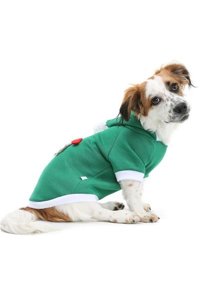 Dogi& Dog Santa Noel Köpek Sweat-Köpek Elbisesi-Köpek Kiyafeti-Kedi Elbisesi-Kedi Kiyafeti