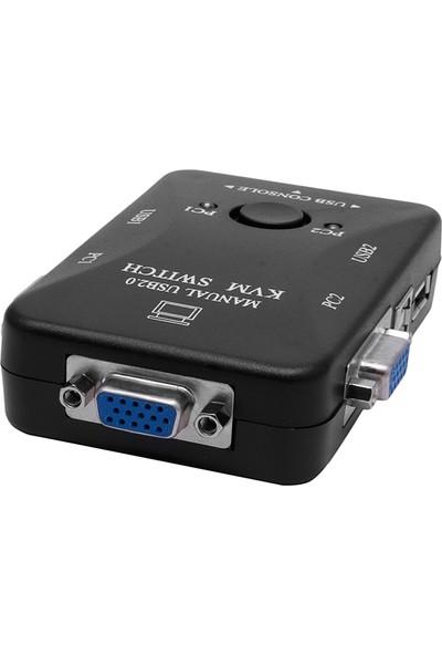 Uptech KX701 2 Port Otomatik Kvm Switch Kablolu