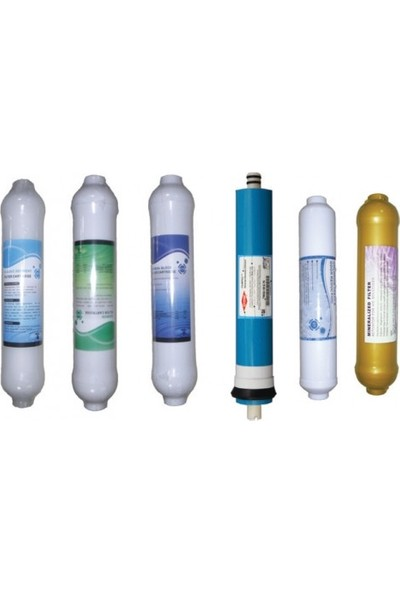 Spring Water Su Arıtma Cihazı İçin Inline 6' lı Filtre Seti