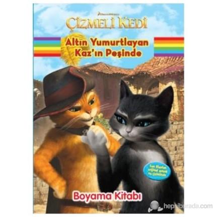 çizmeli Kedi Altın Yırmurtlayan Kazın Peşinde Boyama Fiyatı