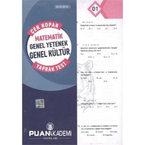 Puan Kpss 2015-2016 Matematik Genel Yetenek Genel Kültür Çek Kopar Yaprak Test
