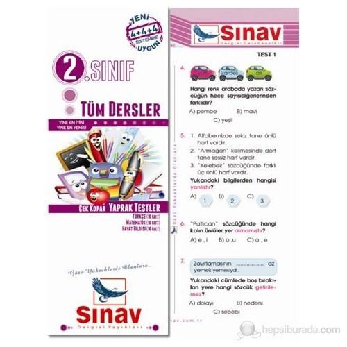 Sınav Dergisi 2.Sınıf Tüm Dersler Yaprak Test (48 Test)