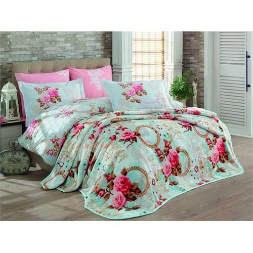 Hobby Çift Kişilik Blanket Set Clementina Pembe