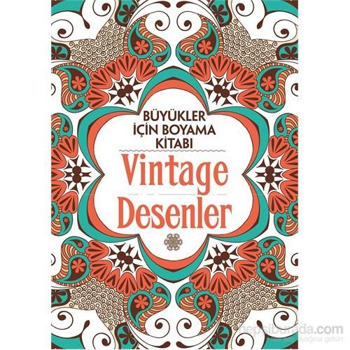 Vintage Desenler Büyükler Için Boyama Kitabı Claire Cater