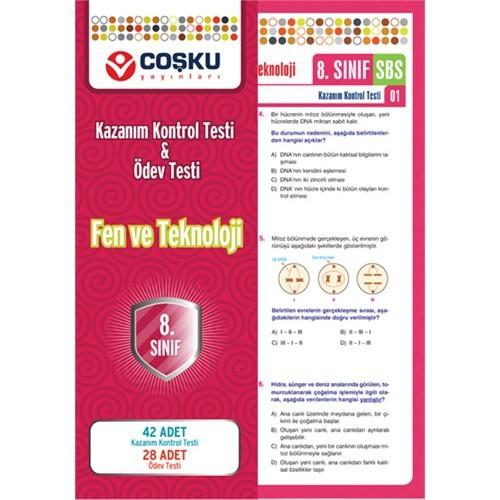8.Sınıf Fen Ve Teknoloji Yaprak Testleri / Coşku Yay.