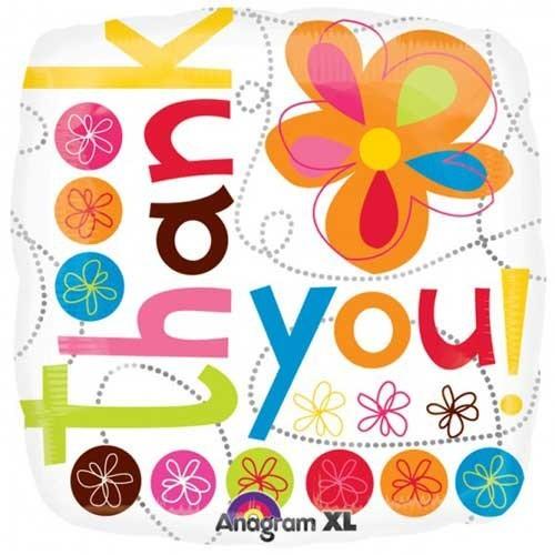 Parti Paketi Teşekkür Çiçekleri Kare Folyo Balon
