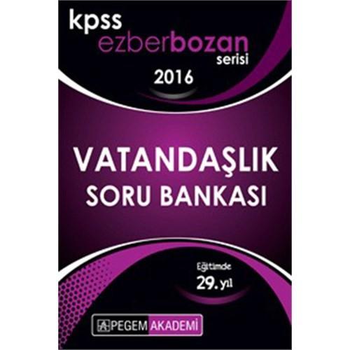 Pegem Kpss 2016 Ezberbozan Vatandaşlık Soru Bankası