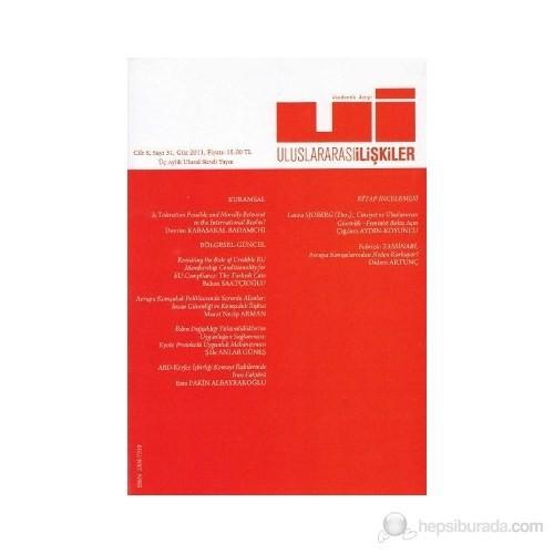 Uluslararası İlişkiler Dergisi Cilt: 8 Sayı: 31