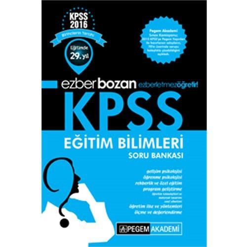 Pegem Kpss 2016 Eğitim Bilimleri Ezberbozan Soru Bankası