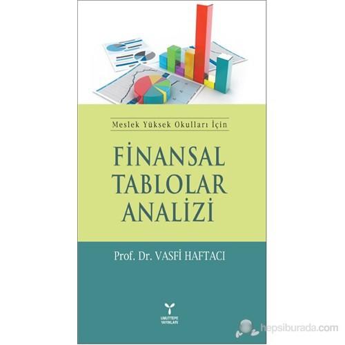 Finansal Tablolar Analizi (Meslek Yüksek Okulları İçin)