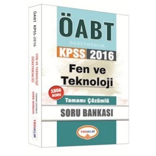 Yediiklim KPSS 2016 ÖABT Fen Ve Teknoloji Öğretmenliği Tamamı Çözümlü Soru Bankası