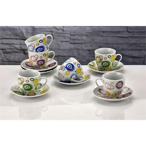 iHouse Shs01c-Türk Kahve Seti 6 Lı-Beyaz
