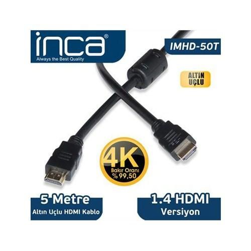 Inca Inca 5 Metre 1,4 V 3 D Altın Uçlu Imhd-50T Hdmı Kablo