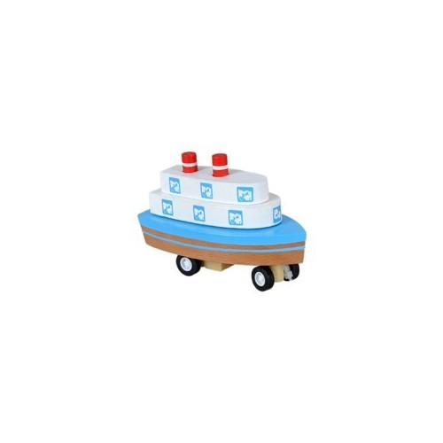 Wooden Toys Çek-Bırak Ahşap Gemi