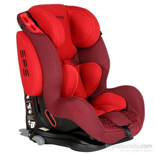 Bolenn Hug Multi Safe ISOFIX/SPS Oto Koltuğu (9-36 kg) / Kırmızı