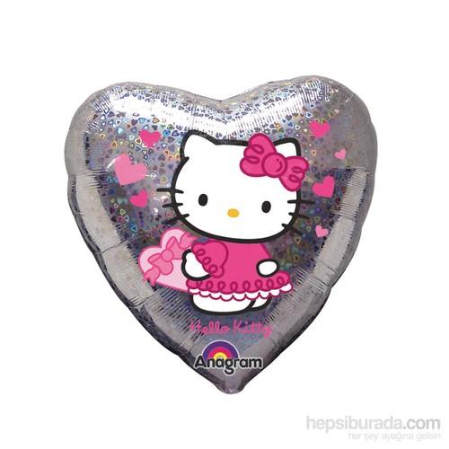 KullanAtMarket Hello Kitty Love Kalp Folyo Balon 43 Cm 1 Adet