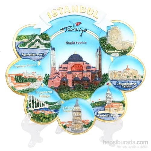 17Cm Ayasofya İstanbul Temalı Tabak
