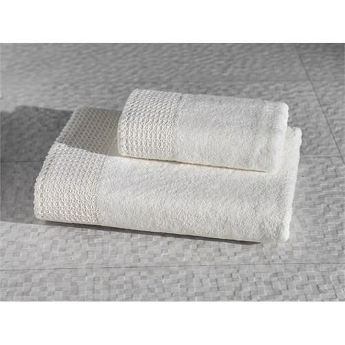 Varol El İşi Pamuk Banyo Havlusu 70 X 140 - Cream Krem