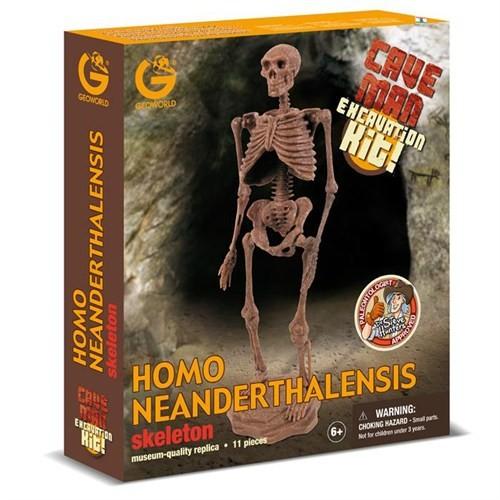 Geoworld Neandertal İnsanı Homo Neanderthalensis İskelet Kazı Seti Cl759k