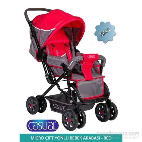 Casual Micro Çift Yönlü Bebek Arabası 2014 / Kırmızı