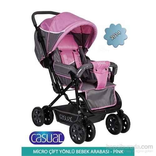Casual Micro Çift Yönlü Bebek Arabası 2014 / Pembe