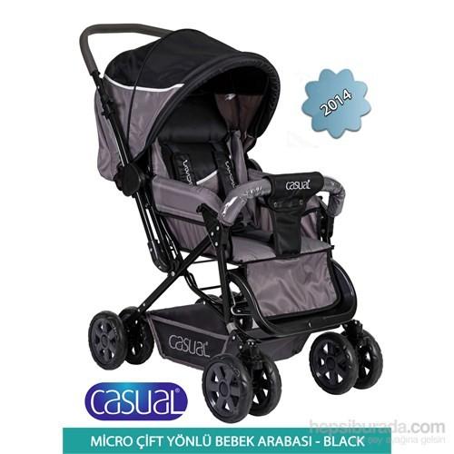 Casual Micro Çift Yönlü Bebek Arabası 2014 / Siyah