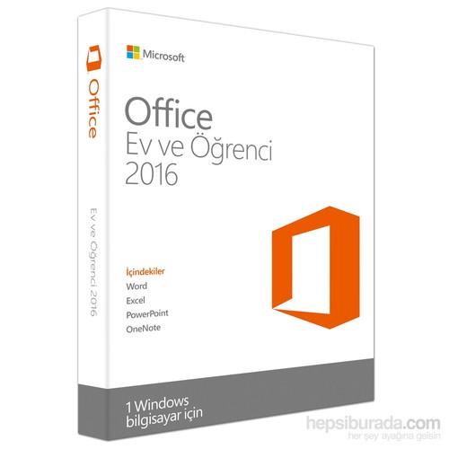 Microsoft Office Ev ve Öğrenci 2016 (79G-04317)