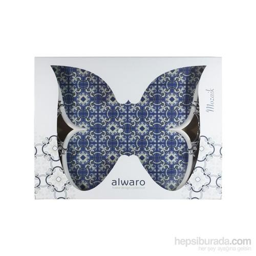 Alwaro Kelebek Tepsi - Mozaik