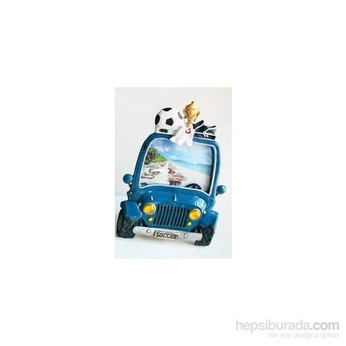 I Love Home Araba Çerçeve Mavi