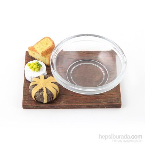 Polirezen Atıştırmalık, Peynir Dekorlu, Mini Cam Kaseli