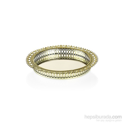 Noble Life Aynalı Dekoratif Gold Tepsi - 25150