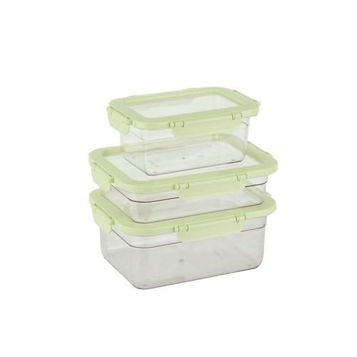 Tantitoni Plastik Yeşil 3Lü Saklama Kabı Seti