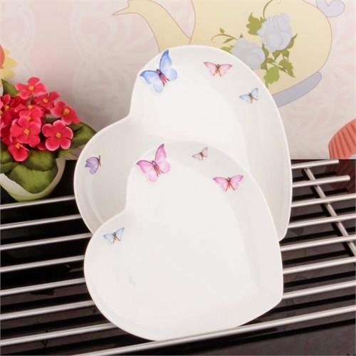 İhouse8009 Porselen 2 Li Servis Tabağı Beyaz