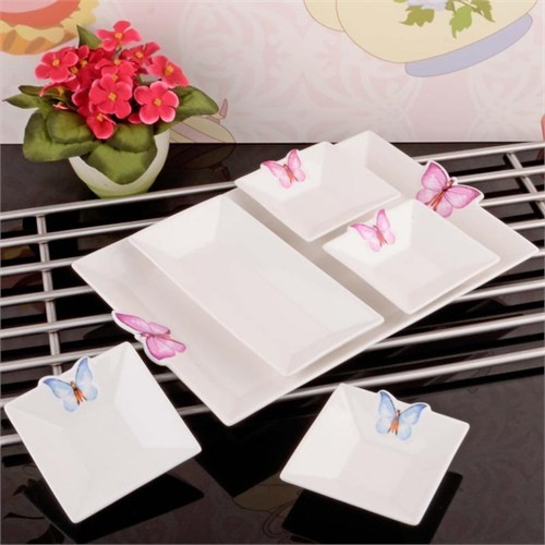 İhouse8010 Porselen Kahvaltılık Beyaz