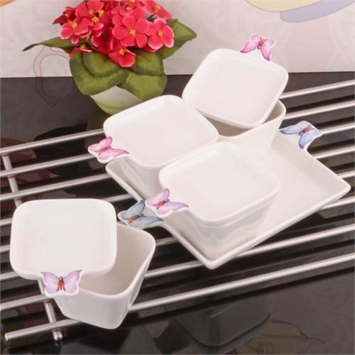 İhouse8013 Porselen Kahvaltılık Beyaz