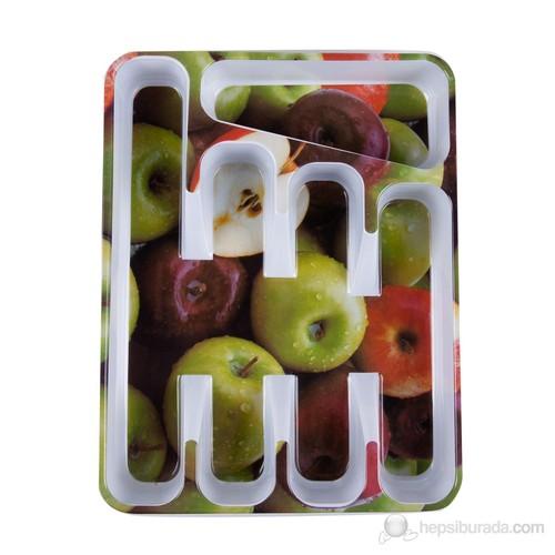 Melamin Kaşıklık Elma Desenli 33x25,5x5,5 cm