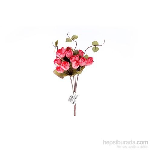 Yedifil Tomurcuk Gül Yapay Çiçek - Pembe