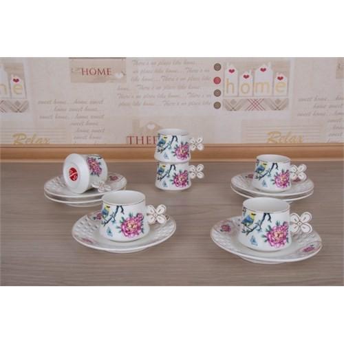 LoveQ Lokumluklu Porselen 6'Lı Kahve Fincanı 147282Bi