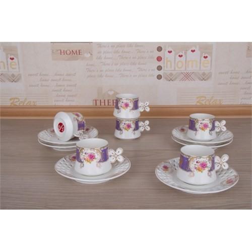 LoveQ Lokumluklu Porselen 6'Lı Kahve Fincanı 147282M