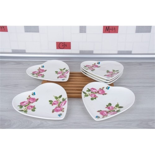 LoveQ Gül Serisi Lux Porselen 6'Lı Pasta Tabağı 147305
