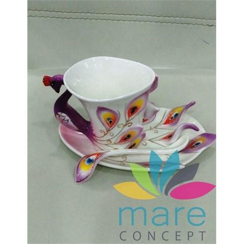 Mare Çay Nescafe Fincan Tabak Kaşık Takımı Mare637mr