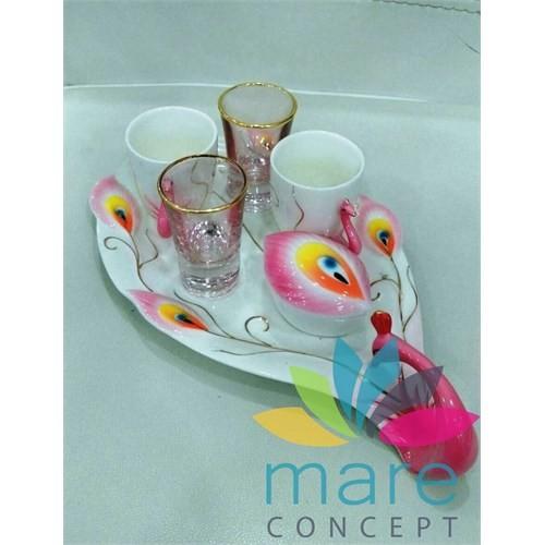 Mare İkili Kahve Takımı Lokumluk Ve Tepsi Mare639p