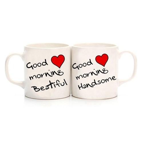 Köstebek Good Morning Beatiful - Good Morning Handsome Sevgili Kupa