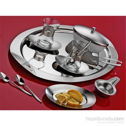 Aryıldız Anka Mat Taşlı 31 Parça Çay Set