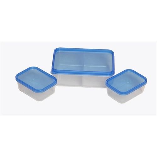 Atadan 3 Mini Saklama Kutuları-Mavi