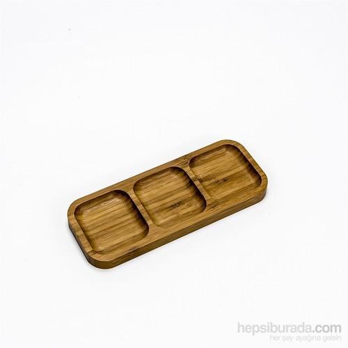 Mukko Home Bambu 3 Bölmeli Çerezlik Ve Kahvaltılık