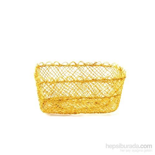 Kancaev İnce Hasır Sepet Büyük Sarı